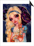Alice and The Cheshire Cat Print by Natasha Wescoat