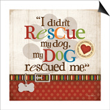 Rescue Dog Prints by Kathy Middlebrook