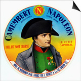 "Cheese Label ""Camembert Napoleon"", ""Le Petit Caporal"", Made in Normandy for Rowley and Co, London Posters"