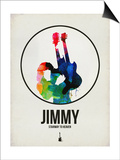Jimmi Watercolor Posters by David Brodsky