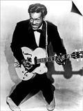 Charles Edward Anderson Berry Aka Chuck Berry (B.1926) Rock and Roll Guitarist Here C. 1955 Print
