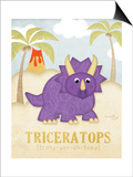 Triceratops Posters by Jennifer Pugh
