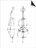 Cello Sketch Poster by Ethan Harper