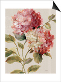 Harmonious Hydrangeas Linen Posters by Lisa Audit