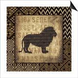 African Wild Lion Border Poster by Hugo Wild