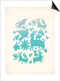 Turquoise Otomi Poster by Rebecca Peragine