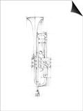 Trumpet Sketch Prints by Ethan Harper