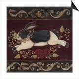 Folk Bunny II Prints by Jo Moulton