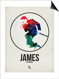 James Watercolor Posters by David Brodsky
