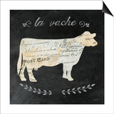 La Vache Cameo Sq Poster by Courtney Prahl