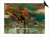 Spinosaurus Was a Large Theropod Dinosaur from the Cretaceous Period Print