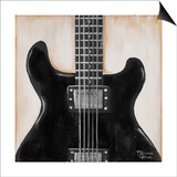 Black Guitar Prints by  Hakimipour-ritter