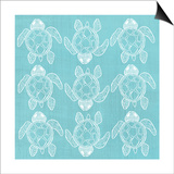 Turtle Pattern Sea Blue Posters by Shanni Welsh