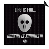 Hockey Is Serious Prints by Jo Moulton