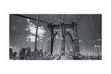 Brooklyn Bridge Walkway Panorama 1 Photographic Print by Henri Silberman