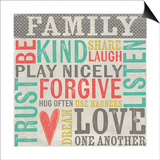 Family Rules Prints by Katie Doucette