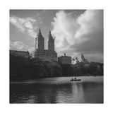 Central Park Lake Rowers Autumn Photographic Print by Henri Silberman