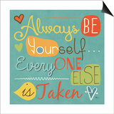 Be Yourself II Prints by Pela Studio