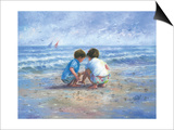 Finding Seashells Posters by Vickie Wade