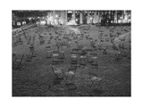 Bryant Park Chairs at Night Photographic Print by Henri Silberman