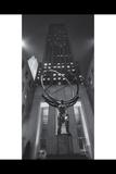 Atlas Statue Night G.E. Building Panorama Photographic Print by Henri Silberman