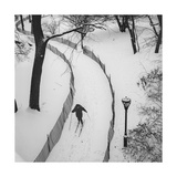 Central Park Cross Country Skier Photographic Print by Henri Silberman