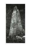 Rockerfeller Center G.E. Building Night Photographic Print by Henri Silberman
