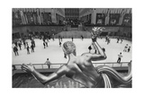 Rockefeller Skating Rink Panorama Photographic Print by Henri Silberman