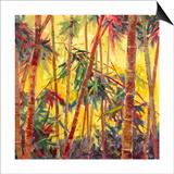 Bamboo Grove II Print by Nanette Oleson