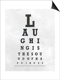 Eye Chart Typography II Prints