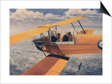 De Havilland Dh.82 Tiger Moth Basic Trainer Biplane from the 1930'S Prints