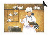 Chicken Chef Art by Vickie Wade