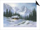 Snowy Hideaway Posters by Vickie Wade