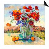 Floral Kaleidoscope II Art by Nanette Oleson