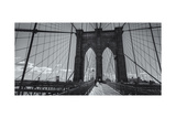On the Brooklyn Bridge Shadows  Panorama Photographic Print by Henri Silberman