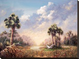 Golden Glades Stretched Canvas Print by Art Fronckowiak