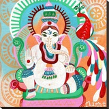 Ganesh of Flight Stretched Canvas Print by Jessica Swift