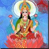 Lakshmi Stretched Canvas Print by Jessica Swift