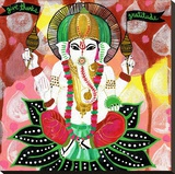 Ganesh of Gratitude Stretched Canvas Print by Jessica Swift