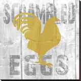 Scrambled Eggs Stretched Canvas Print by Alicia Soave