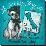 Le Peintre Joyeux Stretched Canvas Print by Janet Kruskamp
