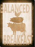 Balanced Breakfast Two Stretched Canvas Print by Alicia Soave