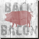 Back Bacon Stretched Canvas Print by Alicia Soave