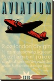 Aviation Recipe Stretched Canvas Print by  Fig & Melon Press