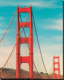 Golden Gate in The Morning Stretched Canvas Print by Sonja Quintero