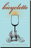 Bicyclette Recipe Stretched Canvas Print by  Fig & Melon Press
