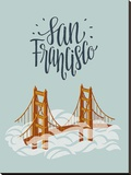 San Francisco Travel Stretched Canvas Print by Emily Rasmussen
