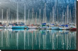 Hout Bay Harbor, Hout Bay South Africa Stretched Canvas Print by Richard Silver