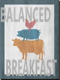 Balanced Breakfast One Stretched Canvas Print by Alicia Soave