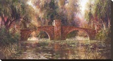 Willow Bridge Stretched Canvas Print by Art Fronckowiak